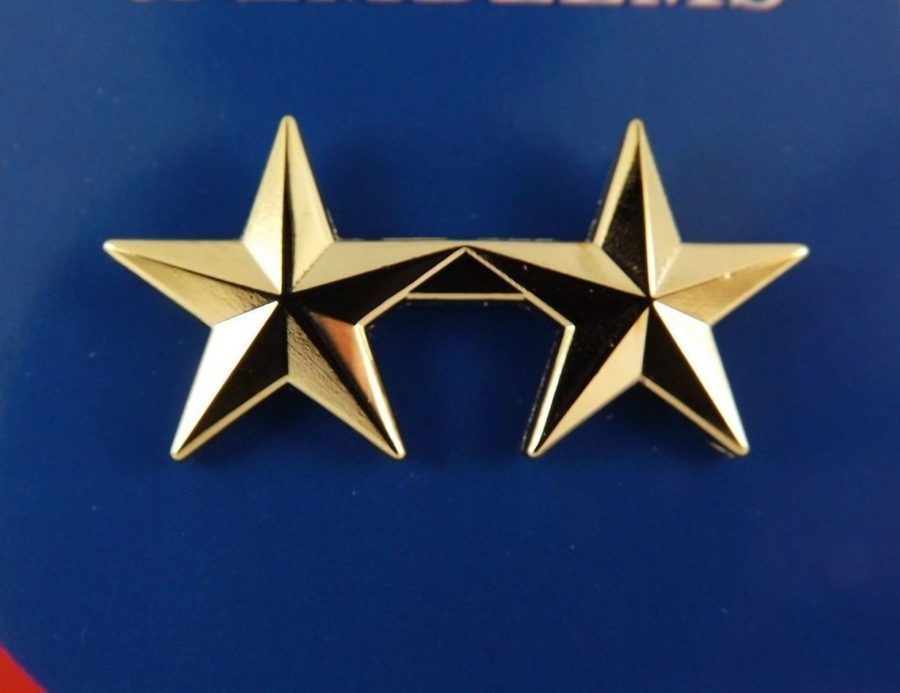 "BRAND NEW Lapel Pin U.S. ARMY General STAR B2 Gold Tone 1-3/8"" 1"