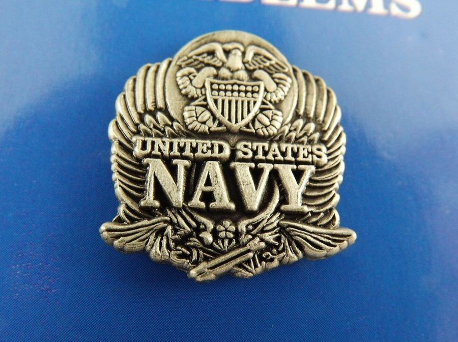 "BRAND NEW Lapel Pin United States Navy Logo Pewter 1"" 1"