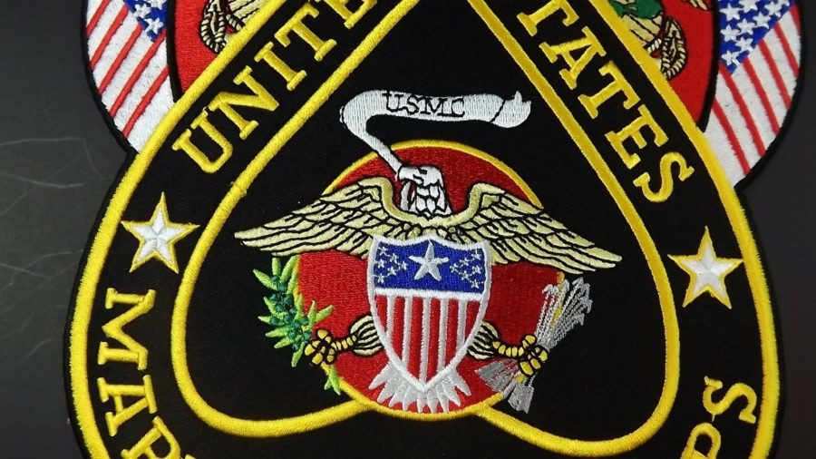 "IRON-ON PATCH ""USMC MARINE CORPS""  BRAND NEW CLOSEOUT QUALITY MADE 10"" X 8"" 3"