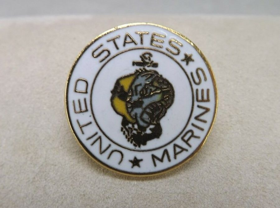 United States Marines Military Marine Corps Round Lapel Pin 1 Inch 1