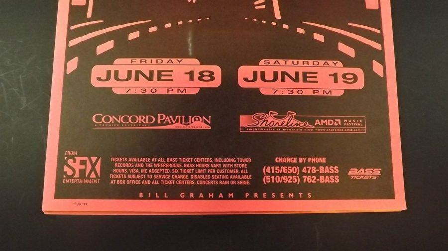 Genuine 1999 BOB DYLAN & PAUL SIMON In Concert Shoreline Poster Flyer Ad 3
