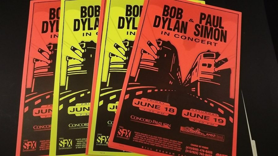 Genuine 1999 BOB DYLAN & PAUL SIMON In Concert Shoreline Poster Flyer Ad 5