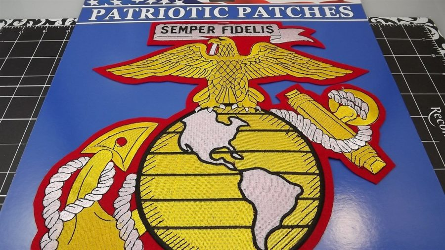 "MARINE CORPS USMC EAGLE GLOBE ANCHOR ""EGA"" PATCH LOGO SEMPER FI  NEW 12"" IRON-ON 3"