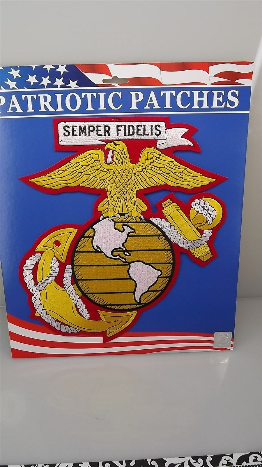 "MARINE CORPS USMC EAGLE GLOBE ANCHOR ""EGA"" PATCH LOGO SEMPER FI  NEW 12"" IRON-ON 1"