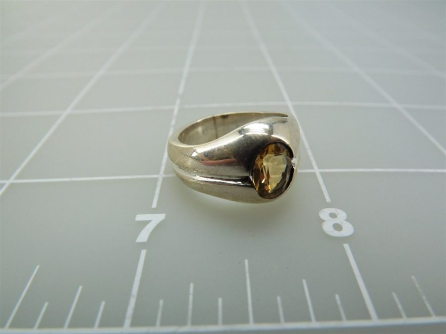 Sterling Silver Genuine Citrine Stone Ring 925 3
