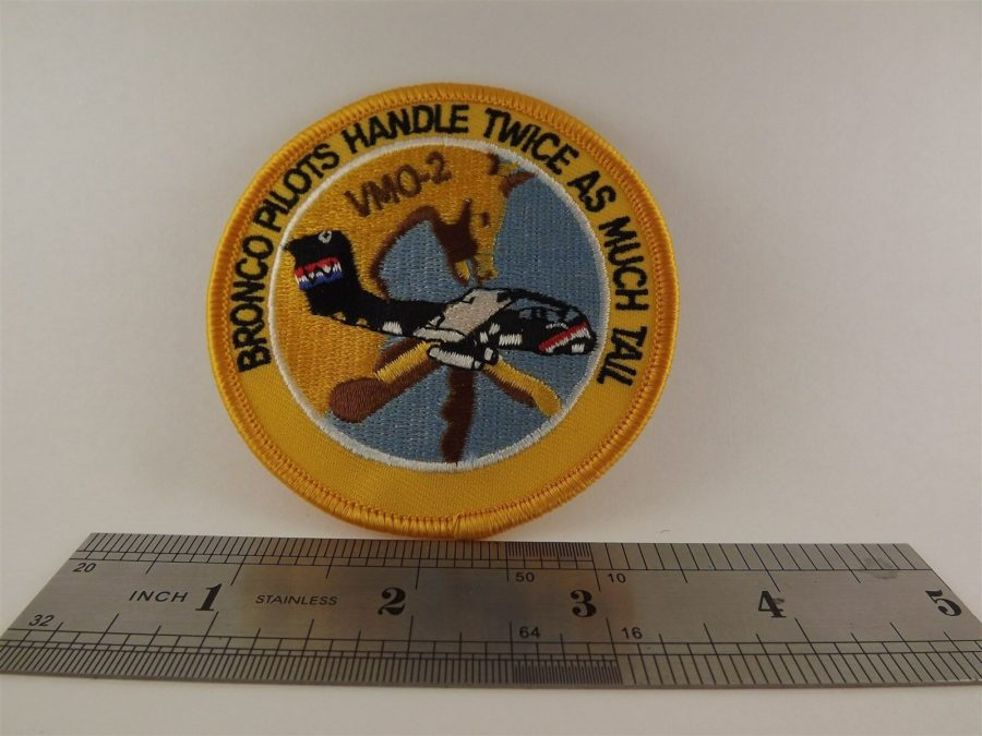 UNITED STATES MARINE VMO 2 Bronco Pilots Iron on Patch BRAND NEW 3