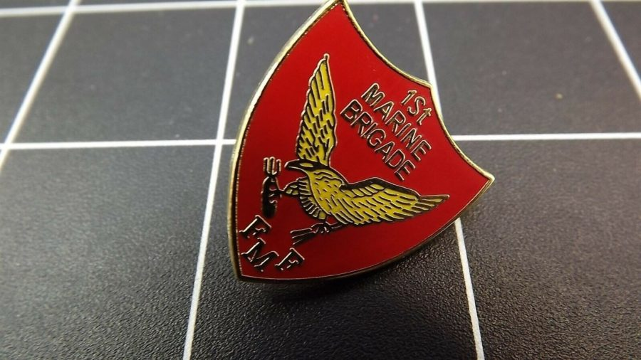 "BRAND NEW Lapel Pin ""USMC FIRST MARINE BRIGADE FMF"" ENAMELED LIFETIME GUARANTEE 1"