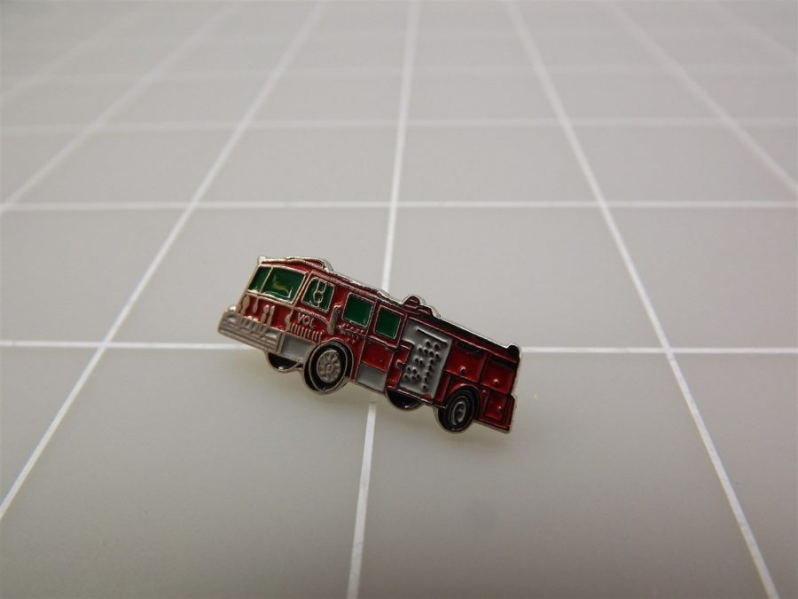 NEW Red fire Engine Fire Truck Lapel Pin NEW 3