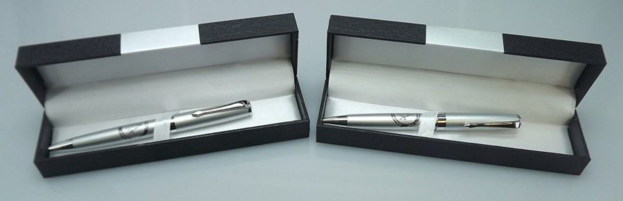 TWO BLUE LODGE PENS QUALITY HEAVY WEIGHT Masonic F&AM GREAT OFFICERS GIFT-SILVER 1