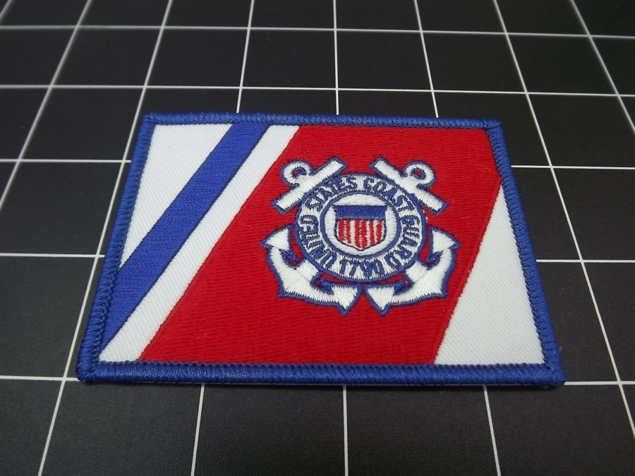 "UNITED STATES COAST GUARD FLAG IRON-ON PATCH BRAND NEW (2-1/2"" X 3-1/2"") 1"